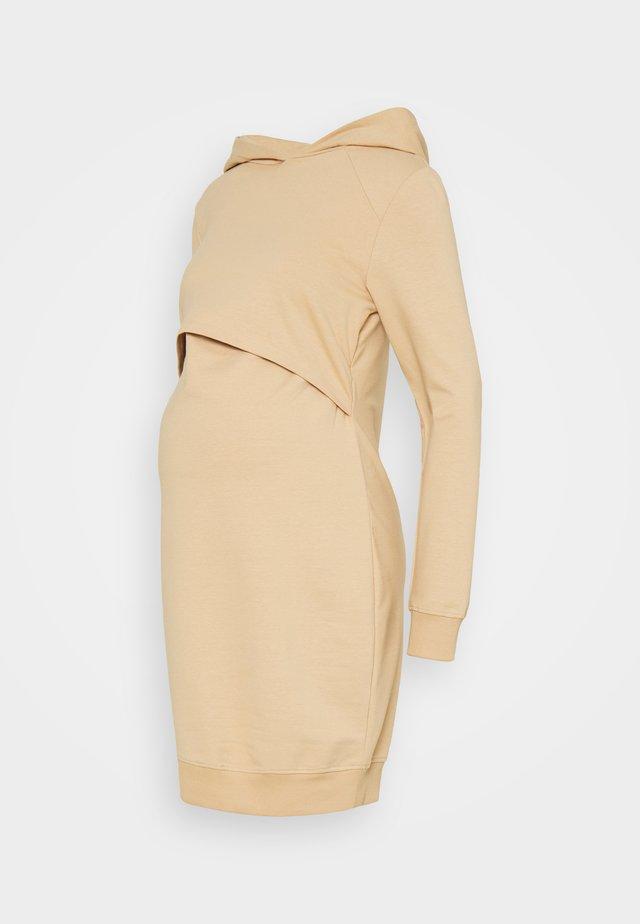 NURSING - Day Dress - Denní šaty - sand