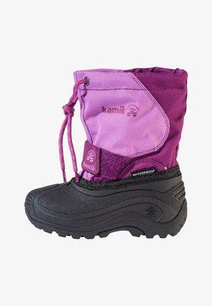 Winter boots - grape orchidee