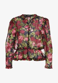 The Kooples - CHEMISE - Button-down blouse - black/red - 4