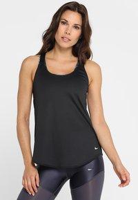 Nike Performance - DRY TANK ELASTIKA - T-shirt sportiva - black - 0