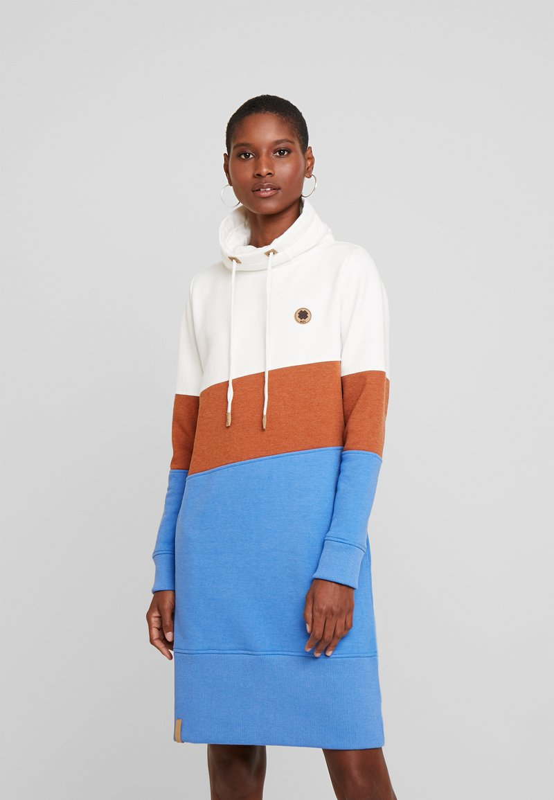 edc by Esprit - COLORBLOCK DRESS - Day dress - off white