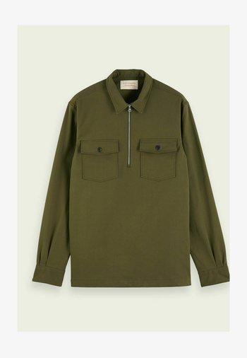 SCOTCH & SODA ZIP-CLOSURE LOOSE-FIT SHIRT - Overhemd - army