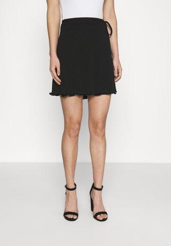 POLLINO SKIRT - Mini skirt - black