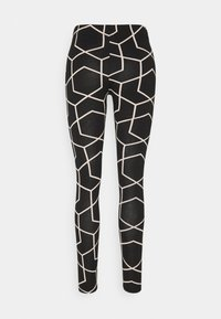 Noisy May - NMANILLA - Leggings - Trousers - black/with chateau gray graphic - 1