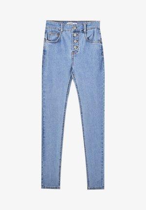 PUSH-UP - Jeans Skinny Fit - mottled blue
