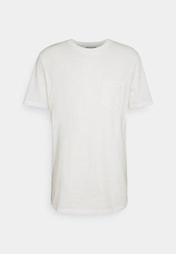 SLHREGCARLOS  O NECK TEE - Basic T-shirt - egret