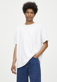 PULL&BEAR - 2 PACK - T-shirt basic - white, black - 1
