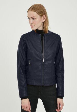 ACOM - Faux leather jacket - peacoat