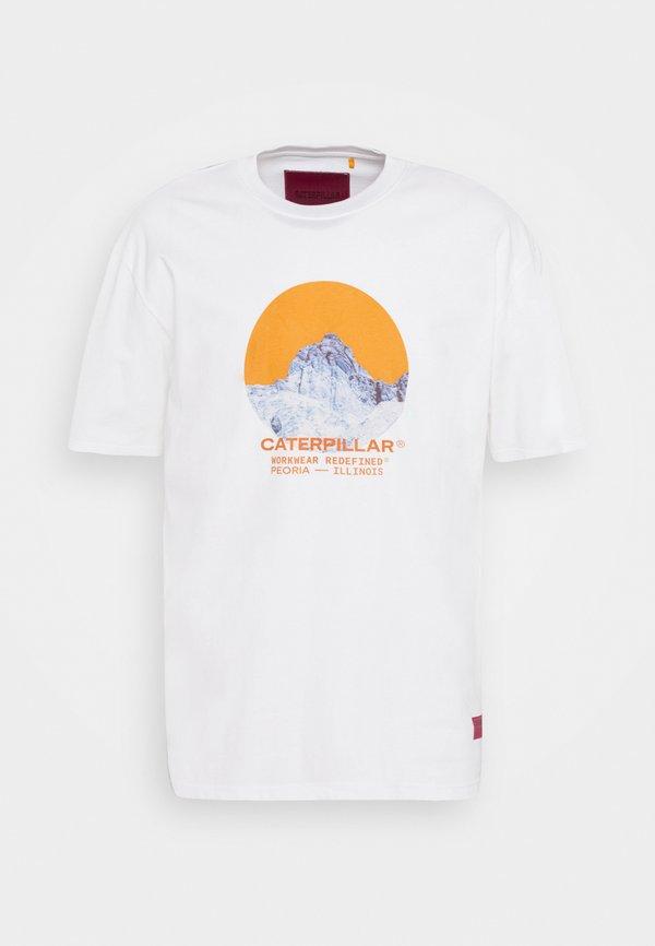 Caterpillar T-shirt z nadrukiem - cream/mleczny Odzież Męska VYYH