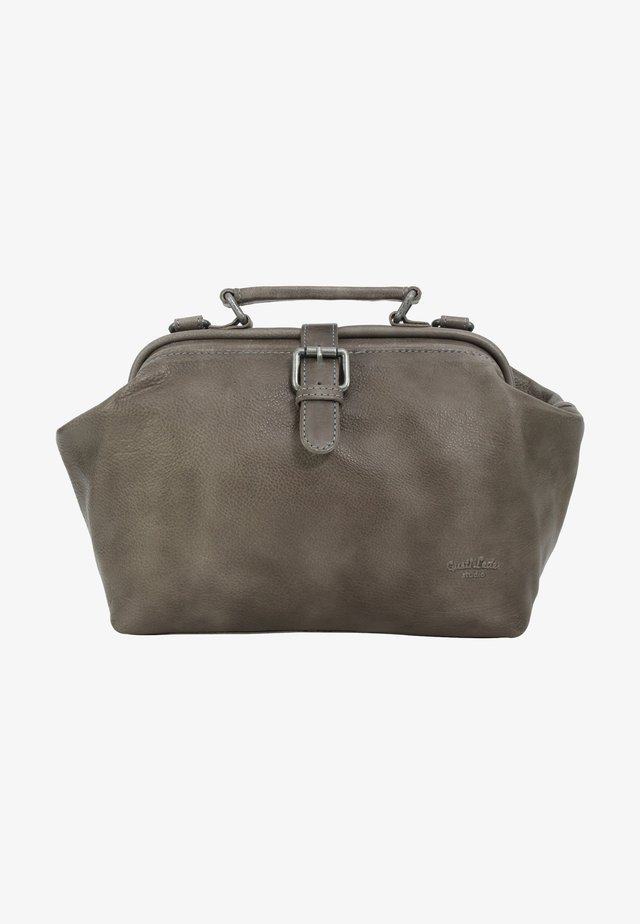 dark brown - Handbag - grey