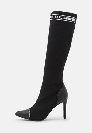 HI LEG BOOT - Højhælede støvler - black