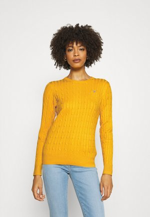 CABLE CNECK - Jumper - medallion yellow