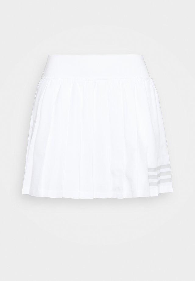 CLUB PLEATSKIRT - Gonna sportivo - white/grey two