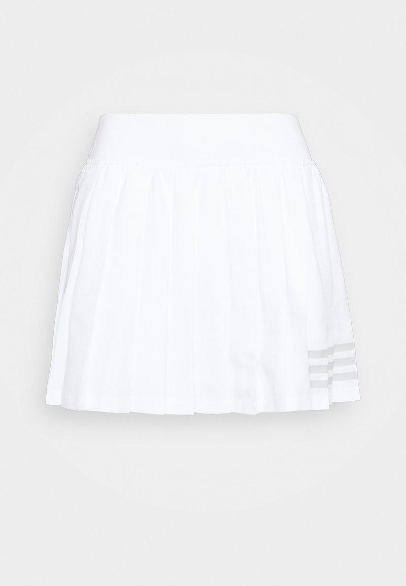 adidas Performance - CLUB PLEATSKIRT - Sports skirt - white/grey two