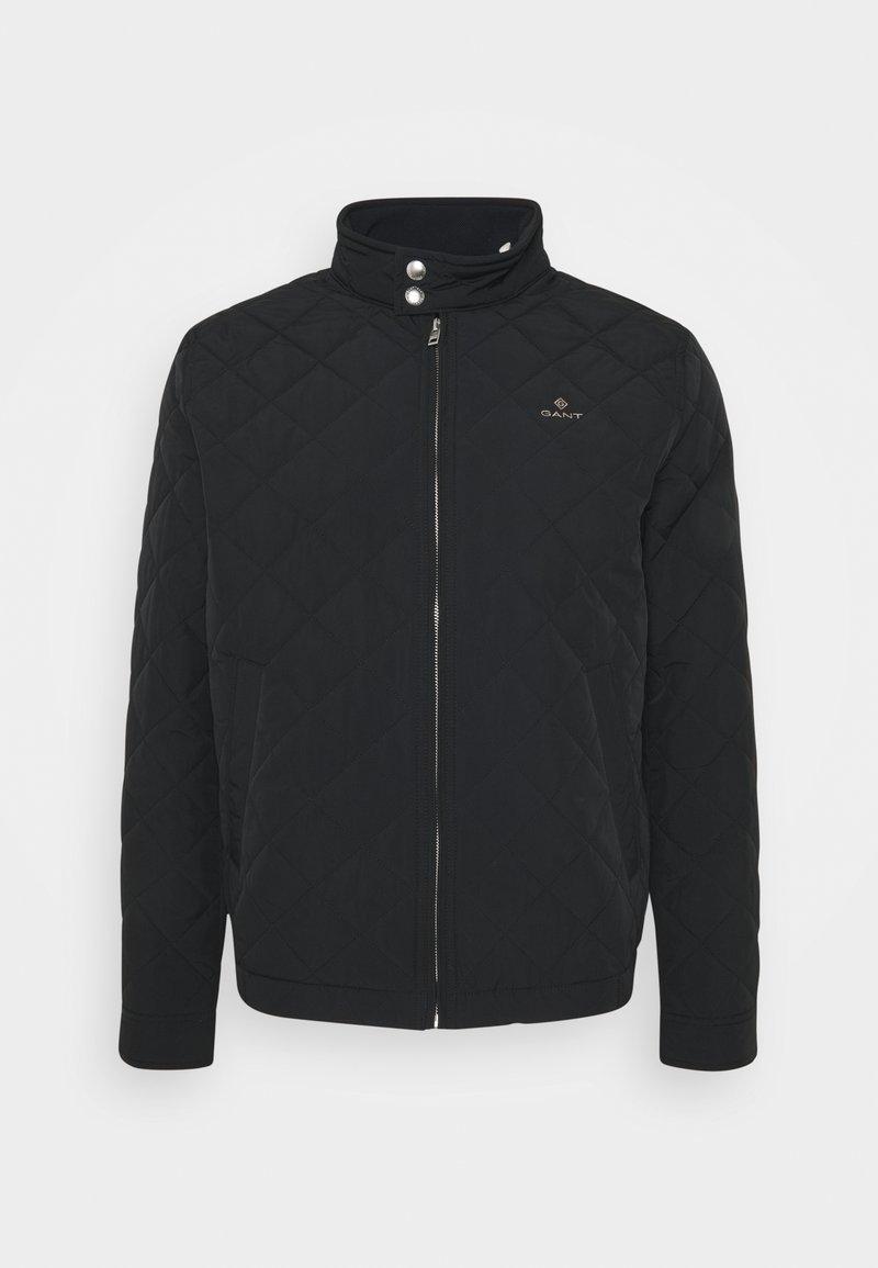 GANT - QUILTED WINDCHEATER - Light jacket - black