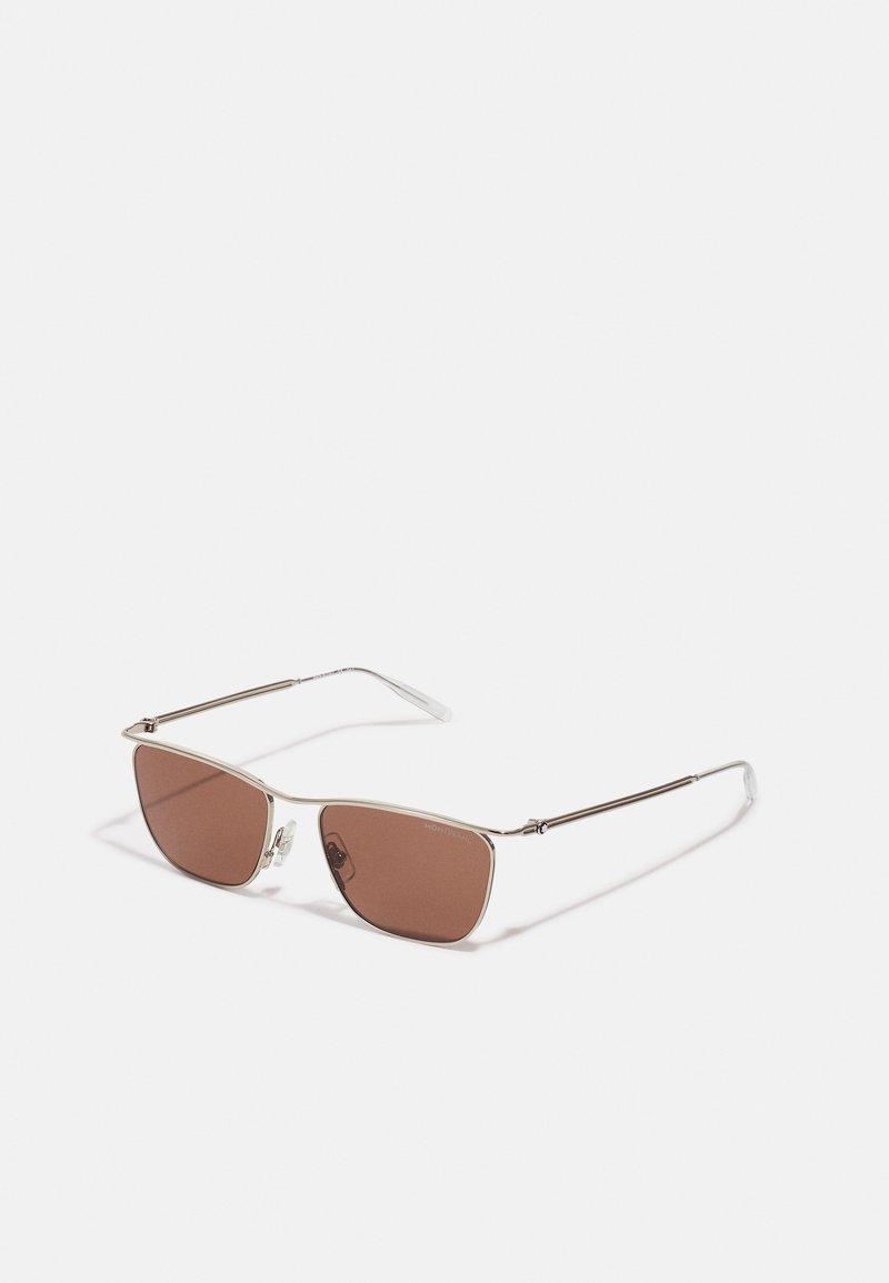 Mont Blanc - UNISEX - Sunglasses - silver-coloured/brown