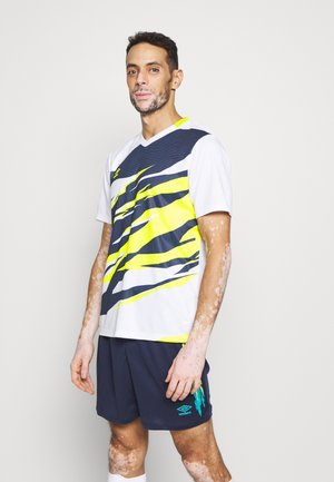 GRAPHIC TRAINING - Print T-shirt - brilliant white/lime punch