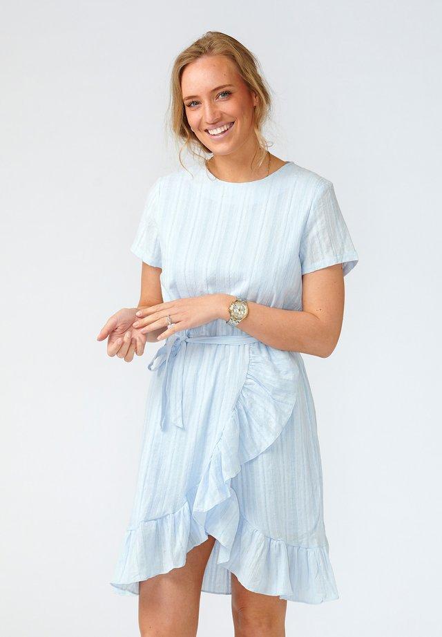 Korte jurk - sky blue