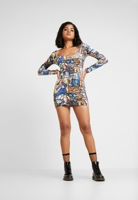 NEW girl ORDER - HOLY PRINT BODYCON DRESS - Pouzdrové šaty - multi - 1