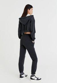 PULL&BEAR - BASIC - Zip-up sweatshirt - mottled dark grey - 2