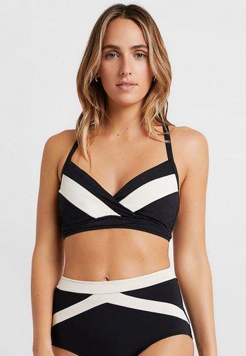 POPBLOCK WRAP FRONT CUP BRALETTE - Bikini top - black