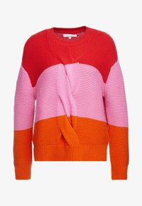 CHINTI & PARKER - GIANT CABLE SWEATER - Neule - bright red/peony/true orange - 5