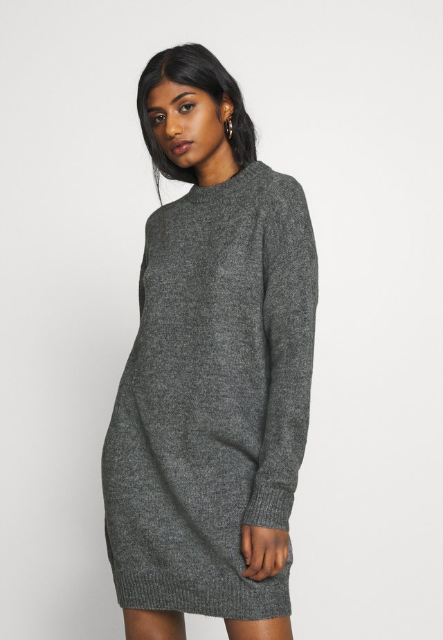 Strikket kjole - dark grey melange
