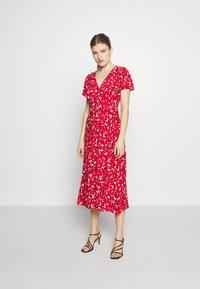 Lauren Ralph Lauren - PRINTED MATTE DRESS - Žerzejové šaty - red - 1
