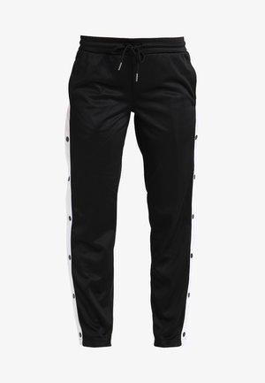 LADIES BUTTON UP TRACK PANTS - Pantalon de survêtement - black/white
