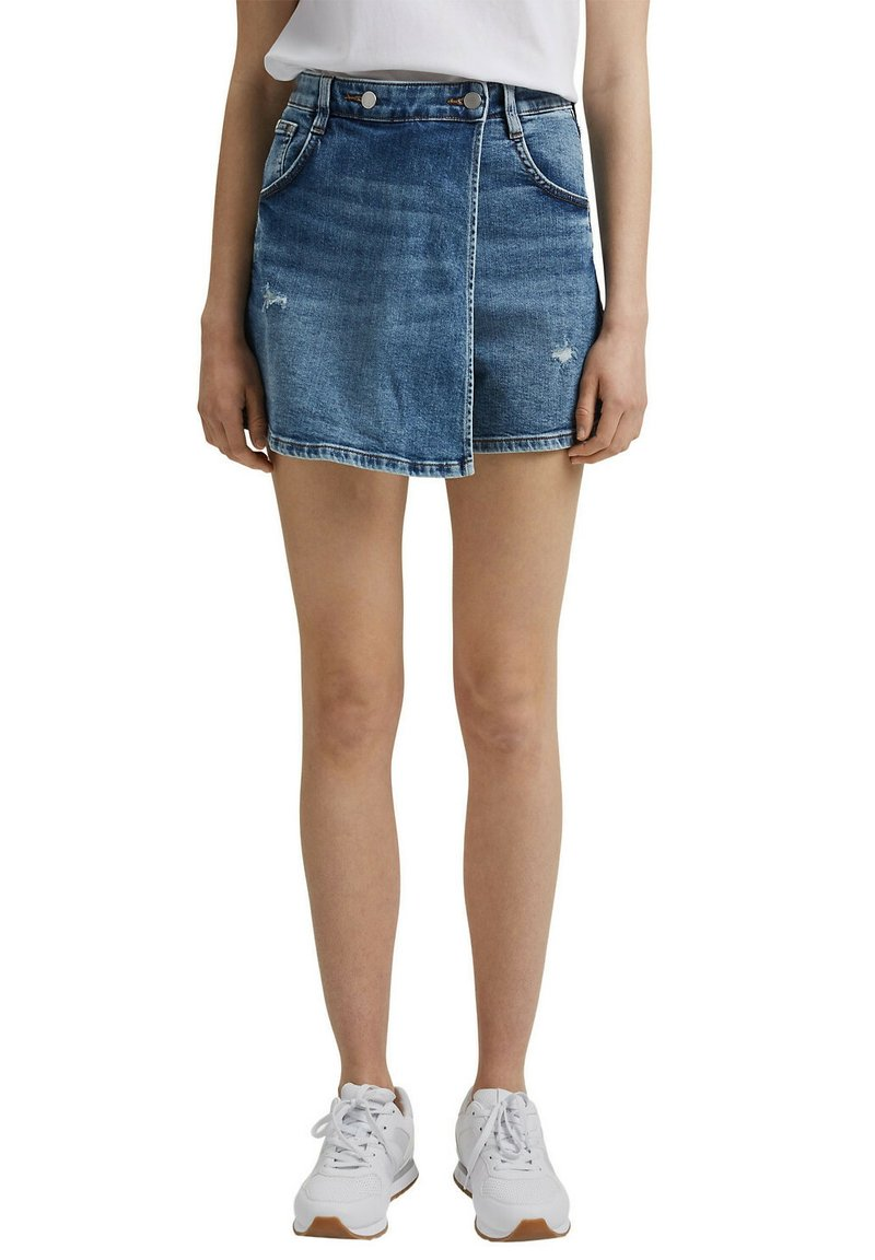 edc by Esprit - Denim shorts - blue medium washed