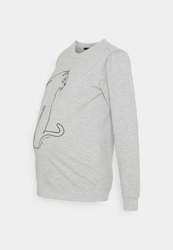 LEOPARD GREY - Sweatshirt - grey melange
