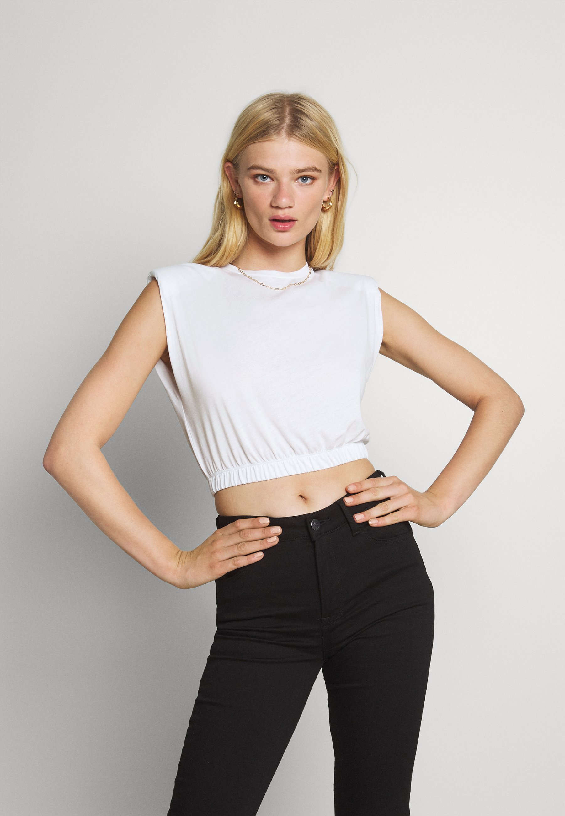 Donna CROPPED SHOULDER FOCUS TEE - T-shirt con stampa