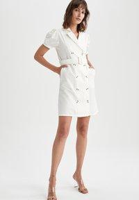DeFacto - Shirt dress - white - 1