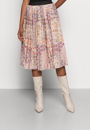 PLISSEEROCK  - Pleated skirt - terra