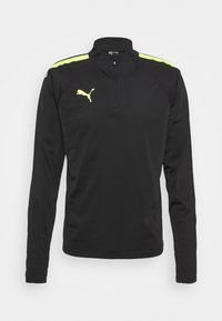 Puma - TEAMLIGA ZIP - Camiseta de manga larga - black/yellow - 0