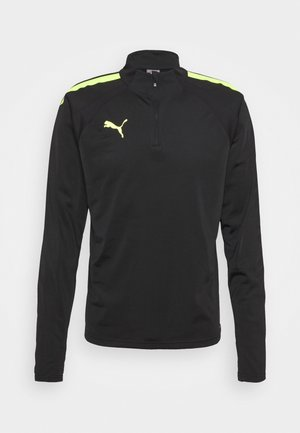 TEAMLIGA ZIP - Funktionströja - black/yellow