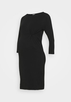 MLSIA 3/4 DRESS - Jersey dress - black