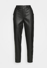 Vila - VIPIPPA COATED DETAIL PANTS - Trousers - black - 4
