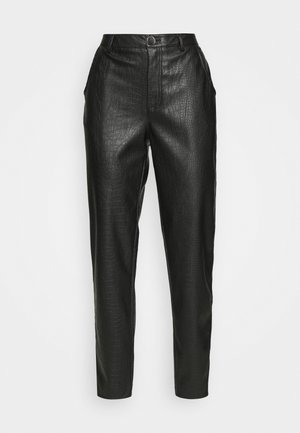 VIPIPPA COATED DETAIL PANTS - Trousers - black
