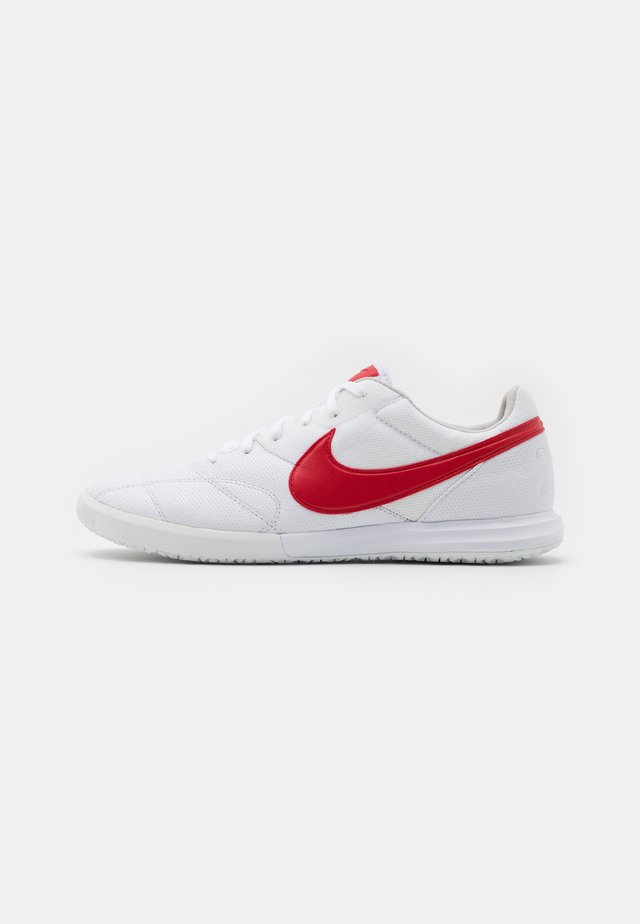 PREMIER II SALA IC - Indoor football boots - white/university red/photon dust