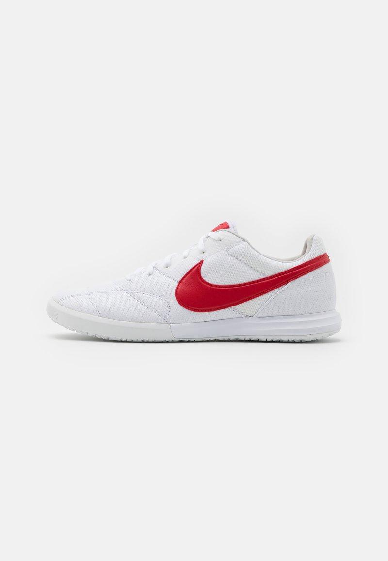 Nike Performance - PREMIER II SALA IC - Zaalvoetbalschoenen - white/university red/photon dust