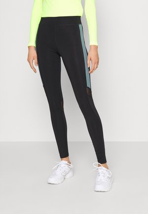 ONPSULA TRAINING TIGHTS - Leggings - Trousers - black/goblin blue
