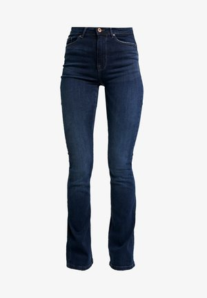 ONLPAOLA - Flared Jeans - dark blue denim