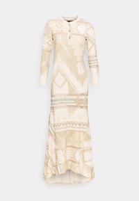Polo Ralph Lauren - NOVELTY TEXTURE - Jumper dress - beige/multicoloured - 4