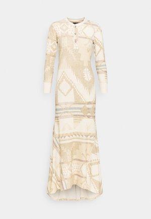 NOVELTY TEXTURE - Strikket kjole - beige/multicoloured