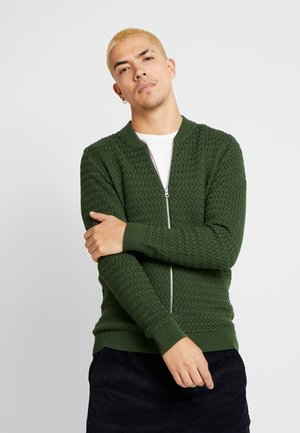 STRUCTURED  - Cardigan - green forest