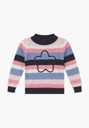 KIDS FLOWER SPARKLE JUMPER - Svetr - blau