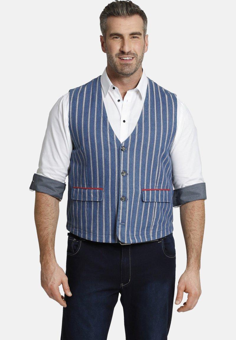 Charles Colby - Waistcoat - blau
