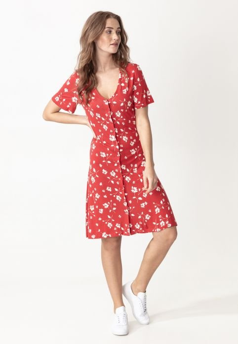 VIRGINIA - Korte jurk - red