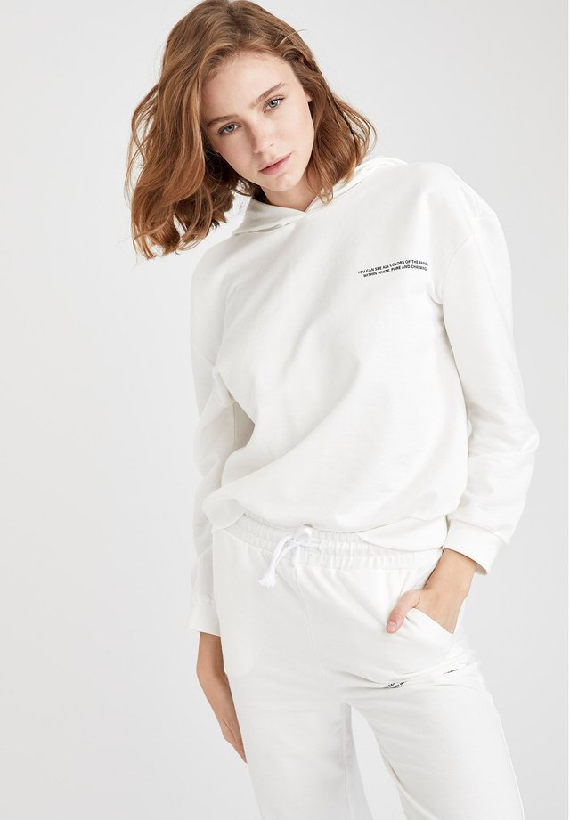 Bluza z kapturem - white